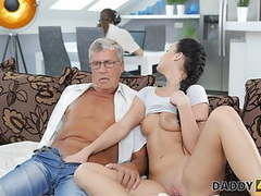Daddy4k. taboo sex of old guy and sweet brunette ends, Blowjob, Brunette, Teen, Old &,  Young, HD Videos, Seduction, Girl Masturbating, Teen Blowjob, Small Boobs, Old, European, Old Men, Old Young Sex, Cute Brunette, Euro Teen, Old Lovers, Dad, Daddy4K movies at freekilomovies.com