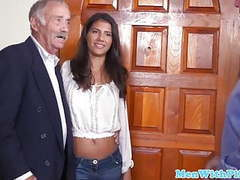 Beauty doggystyled during grandpa's birthday, Teen, Old &,  Young, HD Videos, Doggy Style, Party, Blue Pill Men videos