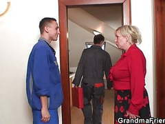 Bit tits old grandmother spreads legs for two men, Blowjob, Hardcore, Mature, Big Boobs, Double Penetration, Granny, Czech, HD Videos, Big Tits, Threesome, Old, Bit Tits, Two Men, Mom, Grandma Friends Channel, Old Granny, Granny Fuck, Mature Threesome, Gr movies