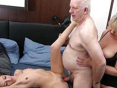 B-grandpa threesome, Amateur, Hardcore, Mature, MILF, Old &,  Young, Threesomes, HD Videos, Threesome, Groups, European, Orgies tubes