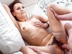 Tutor4k. poor guy returns debt by permitting fellow to fuck, Blowjob, Hairy, Mature, Stockings, Old &,  Young, HD Videos, Cougar, Mature Women, Small Boobs, Cougar Sex, Tutor, Poor Guy, Hairy Pussy, Money, Mature Blowjob, Debt, Tutor Sex, Old Women Sex videos