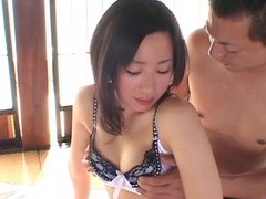 Small tits japanese chick moans during wild fucking on the bed movies
