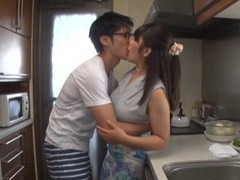 Quickie fucking in the kitchen with horny room-mate kawaguchi hasumi movies