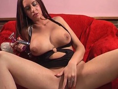 Round boobs mature emma butt takes off her panties and masturbates, Solo Models, Masturbation, British, MILF, Pornstars, Long Hair, Brunettes, Big Tits, Fake Tits, High Heels, Pussy, Toys, Backstage videos