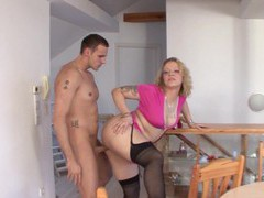 Big butt german milf siena spreads her legs to ride a large dick, Mature, German videos