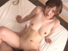 Japanese sweetie asahi mizuno spreads her legs to ride a large dick videos