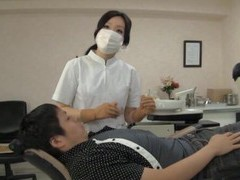 Naughty japanese dentist enjoys having sex with her lucky client videos
