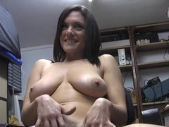 Amateur babe rebekah dee pleasures her cunt in the office, Solo Models, Masturbation, Brunettes, Big Tits, Natural Tits, Fingering, Pussy, Office, British videos