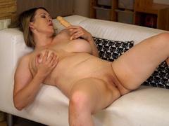 Mature amateur anastasiya pleasures her pussy with a large dildo, Mature videos