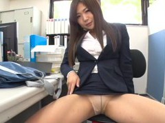 Sexy secretary enjoys teasing her boss with her fit butt. hd videos