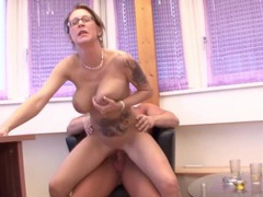 Horny tattooed milf diana sucks a dick and rides in reverse, Couple, Hardcore, German, MILF, Brunettes, Glasses, Jeans, Blowjob, Handjob, Tattoo, Big Tits, Natural Tits, Missionary, Pussy, Shaved Pussy videos