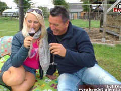 German blonde at outdoor milf sex, Couple, Hardcore, Outdoor, Reality, Blondes, Long Hair, Miniskirt, Blowjob, Leather, Pussy Licking, Clothed Sex, Natural Tits, Cowgirl, Missionary, German, Cougars videos