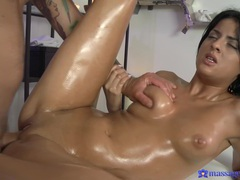 Brunette hottie coco de mal massaged and penetrated. hd video, Couple, Hardcore, Massage, Oiled, Brunettes, Fingering, Blowjob, Handjob, Natural Tits, Titjob, Missionary, Pussy, Shaved Pussy videos
