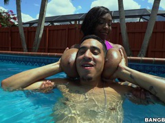 Ebony slut rachel raxxx with massive tits gets fucked in the pool, Couple, Hardcore, Outdoor, Pool, Sport, Ebony, Long Hair, Big Tits, Natural Tits, Pussy, Shaved Pussy, Chubby, Blowjob, Big Cocks videos