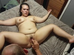 Brunette girl likes it when a friend licks her delicious pussy, BBW videos