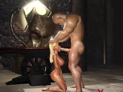 Hard fuck in the dungeon! big hercules plays with a  blonde, 3D Porn videos