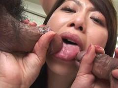 Japanese office lady, hina aizawa likes dp videos