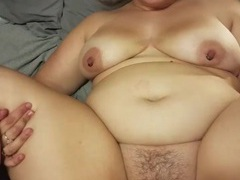 Brunette girl moans while getting her hairy cunt banged by a friend, BBW videos