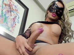 Sexy and hot tranny babes enjoy stroking hard dick and stuffing things in the asshole videos