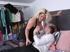 Blonde hottie likes to suck a dick before getting banged hard, Mature, German, BBW videos