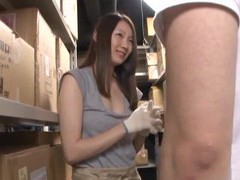 Horny babe urumi narumi gets her wet cunt pounded in the storage room movies at freekiloporn.com