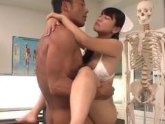 Superb nurse,yu shinohara, knows how to deal two cocks movies at freekiloporn.com