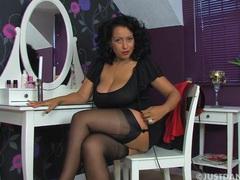 Homemade video of horny milf danica collins pleasuring her cunt, Solo Models, Masturbation, British, Pornstars, MILF, Brunettes, Lingerie, Stockings, Nylon, Bra, Big Tits, Natural Tits movies at kilovideos.com