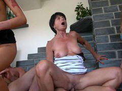 Naughty valentina loves sharing hard cocks with her sexy friends, Mature movies at kilomatures.com