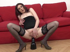 Horny silvia muller gets her butt filled with a black pecker, Mature movies