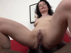 There's nothing better for claudie dark than riding a black dong, Mature, Granny movies