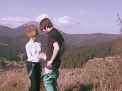 Gorgeous chick loves drooling on a friend's hard dick outdoors, Couple, Hardcore, Outdoor, Reality, Redhead, HD Teen, Blowjob, Forest Sex, Pussy Licking, Skinny, Clothed Sex movies
