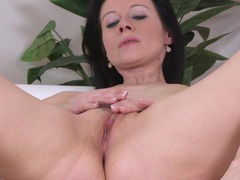 Mature wife enza takes off her clothes to finger her pink taco, Solo Models, Masturbation, MILF, Brunettes, Long Hair, Bra, Panties, Pussy, Natural Tits movies at find-best-videos.com