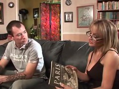 Hardcore fucking between a younger man and cougar sophia soleil, Couple, Hardcore, Pornstars, MILF, Glasses, Blowjob, Big Tits, Fake Tits, Missionary, Doggystyle movies at find-best-videos.com