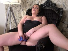 Horny solo mature spreads her legs to play with a stiff dildo, Mature movies at find-best-videos.com