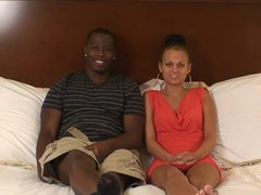 Interracial sex on the bed with a sexy amateur next door neighbor, Couple, Hardcore, Interracial, Small Tits, Skinny, Blowjob videos