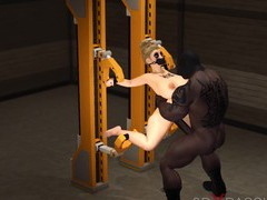 Sexy blonde loves a hard fucking in restraints, 3D Porn videos