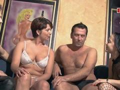 German couple swinger orgy groupsex, Foursome, Group Sex, Hardcore, Swingers, German videos