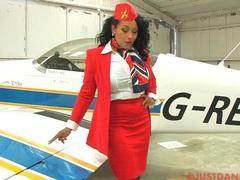 Busty stewardess danica collins takes off her panties to tease, Solo Models, Masturbation, Pornstars, MILF, Uniform, Brunettes, Bra, Lingerie, Stockings, Nylon, Big Tits, Natural Tits, Chubby, High Heels, British videos