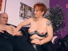 German chubby housewife try porn, BBW, Mature, German videos