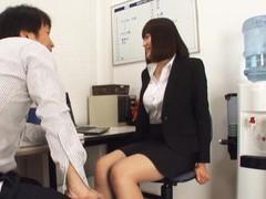 Horny japanese secretary suzuki risa opens her legs in the office movies at kilopills.com