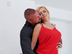 Fucking on the bed between a handsome dude and kirsten klark, Couple, Hardcore, MILF, Big Tits, Natural Tits, Lingerie, Stockings, Nylon, Thong, Blowjob, Pussy Licking, Cowgirl, Missionary movies at kilopills.com
