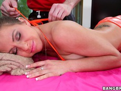 Sweet chick rachel roxxx gets massaged and dicked by a stud, Couple, Hardcore, Massage, Pornstars, Oiled, Pussy, Asshole, Fingering, Blowjob, Missionary, Brunettes videos