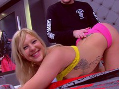 Tattooed blonde cutie christine sucre enjoys getting fucked, Couple, Hardcore, Blondes, Natural Tits, Tattoo, Panties, Blowjob, HD Teen, Cowgirl, Missionary movies at freekilosex.com