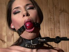 Submissive chick zafira loves being tied up and tortured by her lover, BDSM, Fetish, Slave videos