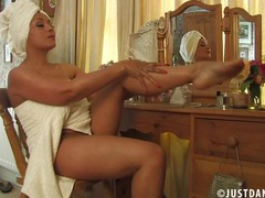 Trimmed pussy mature danica collins moans while having solo fun, Mature, British videos