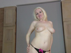 Pale blonde mature jaden moans while masturbating on the bed, Solo Models, Masturbation, MILF, Blondes, Pale, Natural Tits, Pussy, Big Tits, High Heels, Panties movies at find-best-hardcore.com