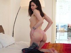 Gorgeous monica melody drops her panties to have fun with a dildo, Solo Models, Masturbation, Brunettes, Shorts, Small Tits, Thong, Hot Ass, Pussy, Shaved Pussy, Toys, Asshole videos