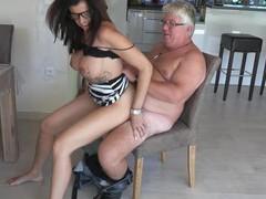 German big boobs mature milf fuck ugly guy, Mature, German movies