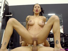 Fit cougar amia miley enjoys getting fucked by her personal trainer, Couple, Hardcore, Gym, Pornstars, Brunettes, Tattoo, Blowjob, Big Tits, Fake Tits, Missionary, Pussy, Shaved Pussy, Doggystyle, Long Hair, HD POV, MILF videos