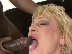 Dirty blonde mature sisy gets fucked hard by a black stud, Mature, Granny videos